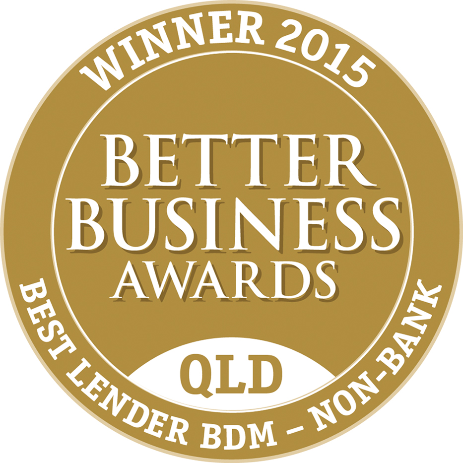 Winner 2015 Better Business Awards QLD Best Lender BDM - Non-Bank